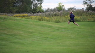 Timeout with Cloquet cross country runner Aidan Ripp