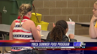 YMCA Summer Food Program start morning and noon feeding on Tuesday