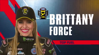 Top Fuel Driver Brittany Force