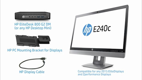 Mounting Video HP Desktop Mini and Elite Display Mounting Bracket - Low Res