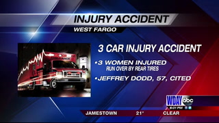 Three women injured in West Fargo crash