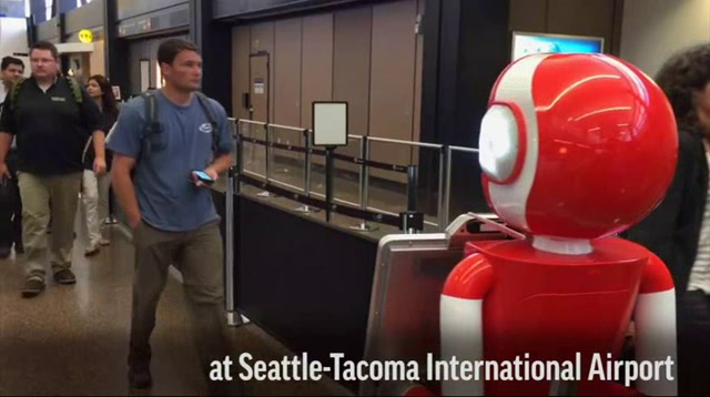 Robot Helps Passengers Through Airport Security