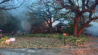Fire erupts on Lakeside Drive