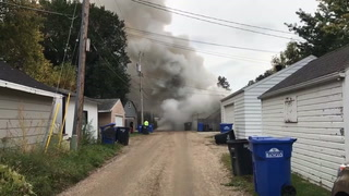 Just before noon on Tuesday, Sept. 25, 2018, a fire was reported at 615 Ninth Ave. S. in Fargo. Kim Hyatt / The Forum