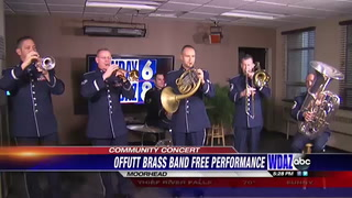Air Force band performs free concert in honor of veterans