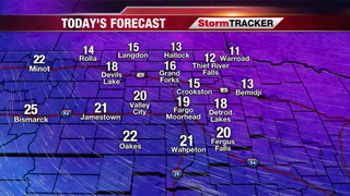 Colder and Windy Today, Few Flurries