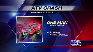 Update: one man injured in ATV crash