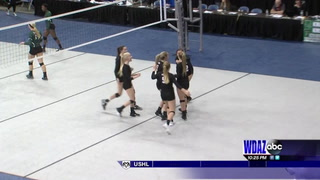 LaMoure-LM first to win three straight Class B volleyball titles