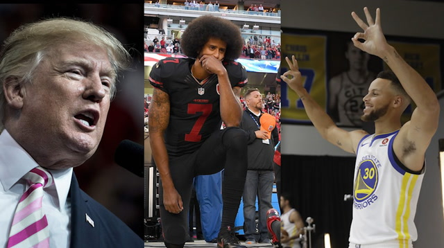 How the sports world reacted to Trump's comments on the NFL and Stephen Curry