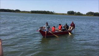 Outrigger canoe takes on Lac qui Parle Lake
