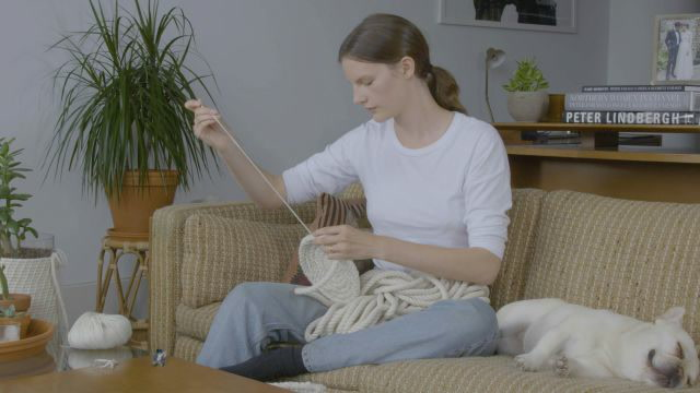 Model Sara Blomqvist Shows You How To Make a Braided Rope Basket