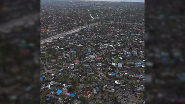 Aerial footage shows Mozambique port city flattened by Cyclone Idai