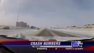 Overnight snow causes mulitpe crashes in the Metro  (1)