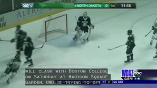 UND men's hockey playing a typical Boston College team on Saturday
