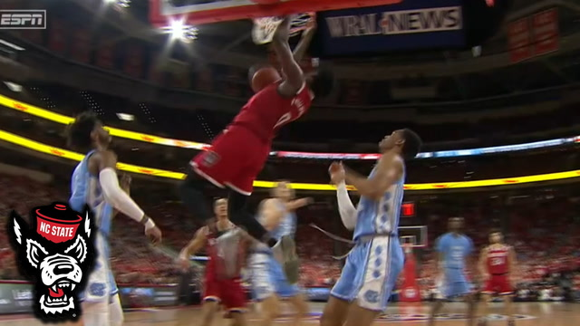 NC State's DJ Funderburk Drives Baseline For The Dunk
