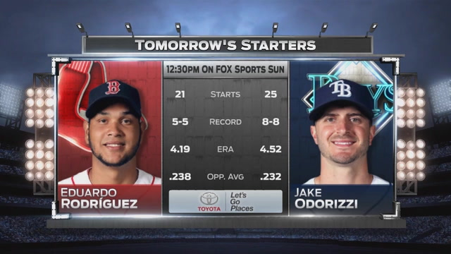 Rays try to avoid sweep at hands of Red Sox