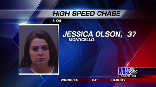 Monticello woman in custody after 26-mile police chase