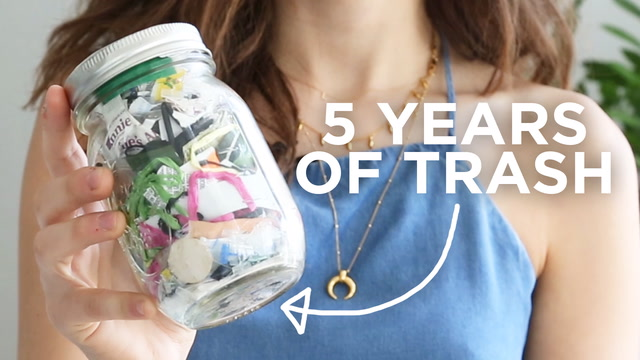 This Girl Can Fit All Her Trash From The Past 5 Years Into A Single Mason Jar