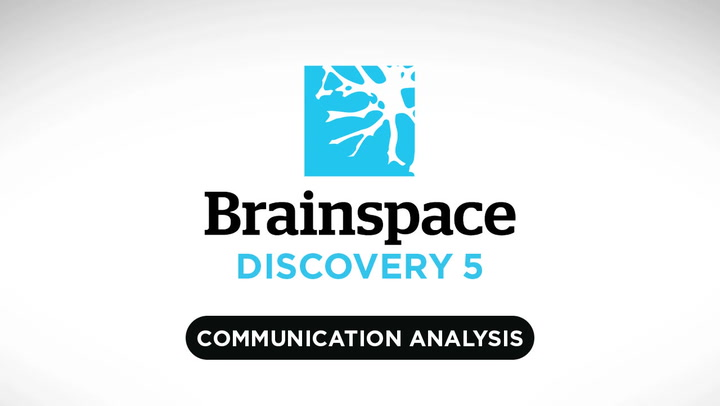 Communications Analysis | Brainspace Discovery