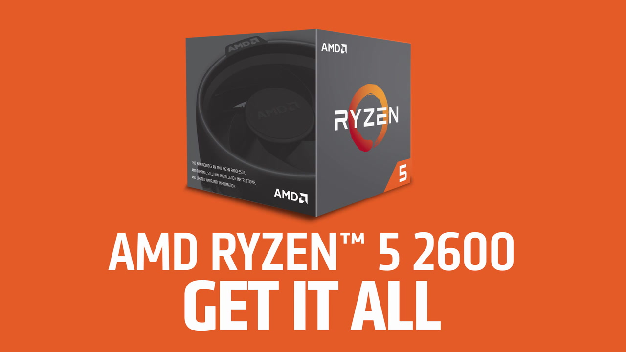 AMD Ryzen 5 2600 6-Core Socket AM4 3 4GHz CPU Processor with Wraith Stealth  Cooler