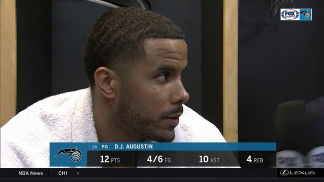 D.J. Augustin: 'It was a great bounce back game for us' after defeating Cavaliers