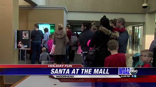 Santa visits with local kids in Moorhead