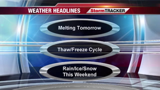 StormTRACKER Forecast For Melting Snow