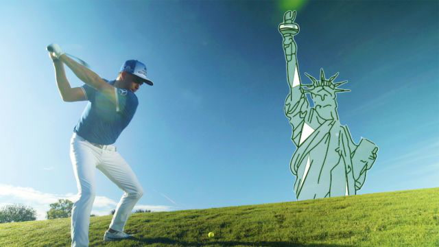 Rickie Fowler Easily Hits a Golf Ball Higher Than the Statue of Liberty