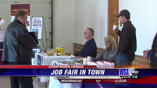 Job seekers meet with employers at Hawley Job Fair