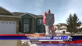 Moorhead family gets creative with little snow left