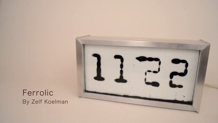 "This Rorschach Alarm Clock Is Filled With Ferromagnetic ""Creatures"""