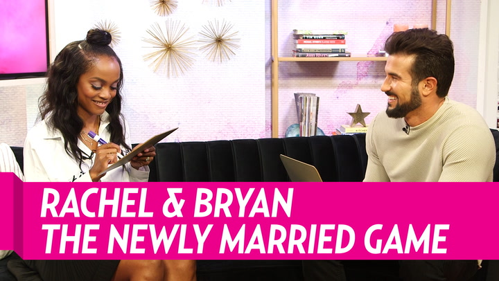 Rachel Lindsay and Bryan Abasolo Hilariously Fail 'The Newly Married Game'
