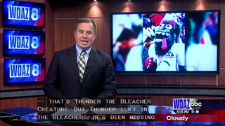 Thunder the Bleacher Creature: The mystery of the missing mascot