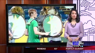 NDSU Marching Band honors bandmate who passed away