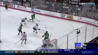UND falls on the road at Omaha