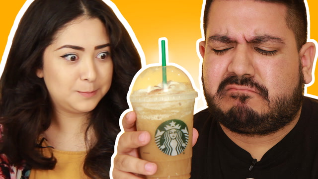 Latinos Try The Horchata Frappuccino