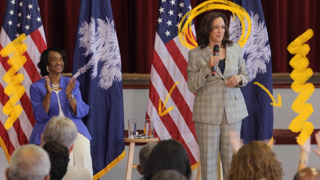 A theater critic reviews Sen. Kamala Harris's campaign performance