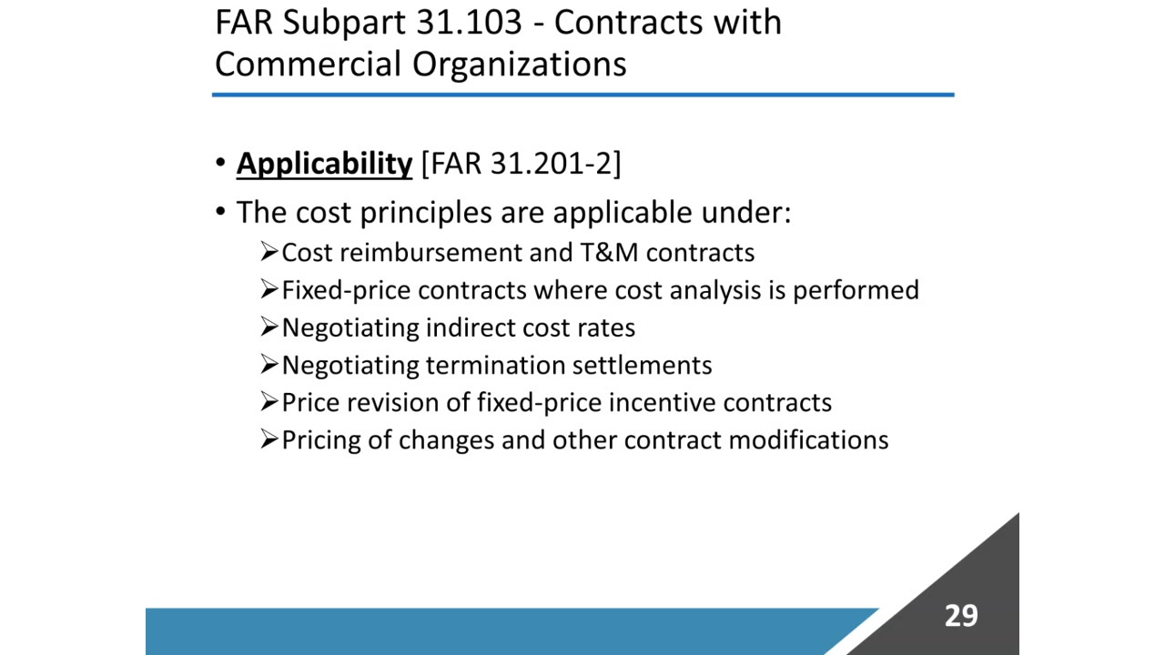 Government Contracts - What Costs Are Allowable vs
