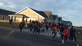 About 130 people participated in the Jamestown Turkey Trot Thursday morning in Jamestown. Runners took to the streets under mostly clear skies with temperatures of about 30 degrees. Winning times for the 5K run were about 19 minutes. The route of the run utilized the new road connecting the Menards area to the Jamestown Regional Medical Center.