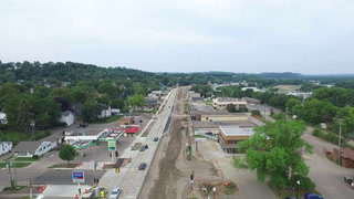 HWY 61 Road Construction Flyover with highlights - Red Wing, MN