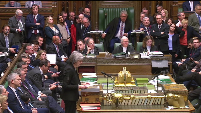 British lawmakers vote to try to stop no-deal Brexit