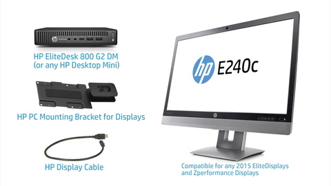 Mounting Video HP Desktop Mini and Elite Display Mounting Bracket - Hi Res