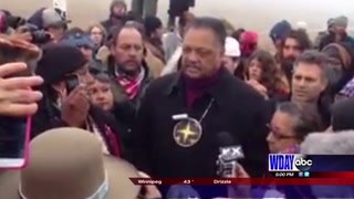 Rev. Jesse Jackson, Mark Ruffalo join pipeline protesters in Cannon Ball
