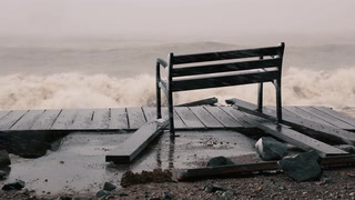 Snow and waves continue along damaged Duluth Lakewalk