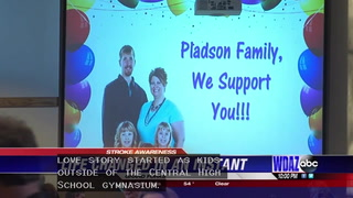 Community rallies for stroke victim