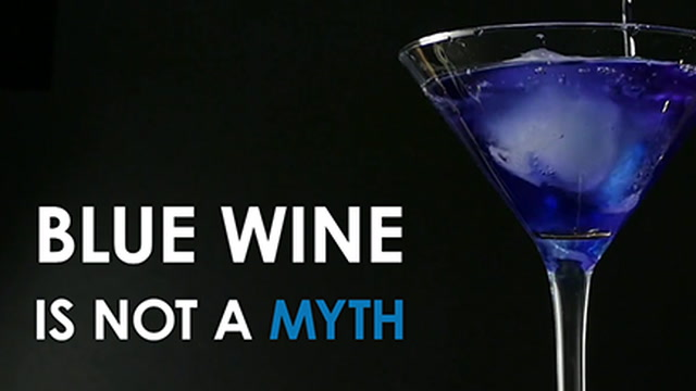 Blue Wine in Spain's Basque Country