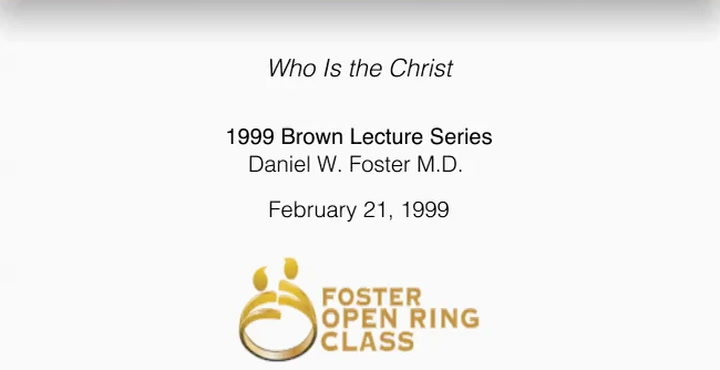 Who Is the Christ: 1999 Brown Lecture Series | First Presbyterian Church Dallas, TX