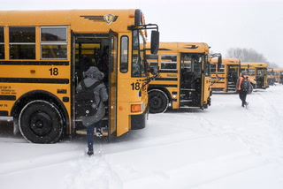 Early Snow Dismissal in April