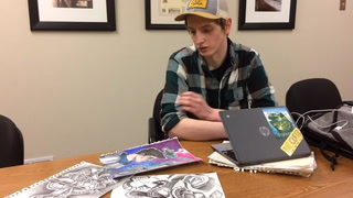 Artist Devin Brownell talks about his process for creating art. John M. Steiner / The Sun