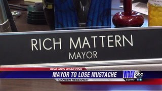 WF Mayor to shave signature mustache of 35-years if he can raise $2,500 for cancer research